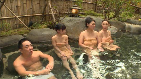 【ハミ乳温泉画像】口リ顔Fカップ長澤茉里奈さんの入浴シーン、おっぱいハミ出し過ぎワロタwwwwwwwww(画像あり)・9枚目