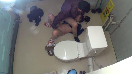 【胸糞注意】身障者用トイレ使ってレイプされる少女、地べたで犯される・・・(画像あり)・1枚目