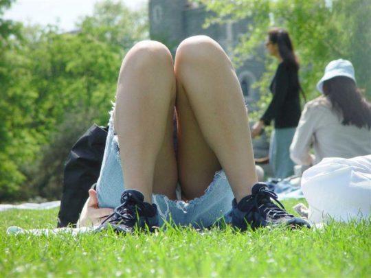 【盗撮不可避】公園の芝生で日光浴中の外人ネキ、色々見えてて盗撮捗りまくりwwwwwwww(画像30枚)・20枚目
