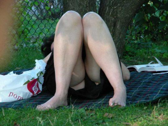 【盗撮不可避】公園の芝生で日光浴中の外人ネキ、色々見えてて盗撮捗りまくりwwwwwwww(画像30枚)・23枚目