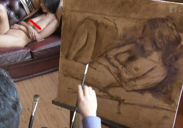 (※悲報)NHKで「ぬーどモデル」のビーチクをドアップで放送した問題のシーン。乳輪のブツブツまでわかるwwwwwwwwwwwwwwwwww(写真あり)