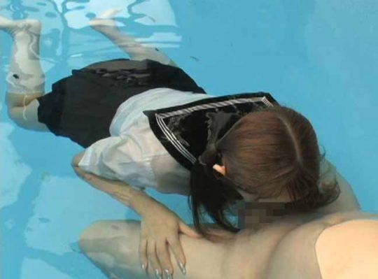 """【危険行為】何が気持ちいいのかイマイチ理解不能な""""水中フェラ""""、これ遅漏ニキが真似したら大惨事じゃね・・・・・(画像、GIFあり)・23枚目"""