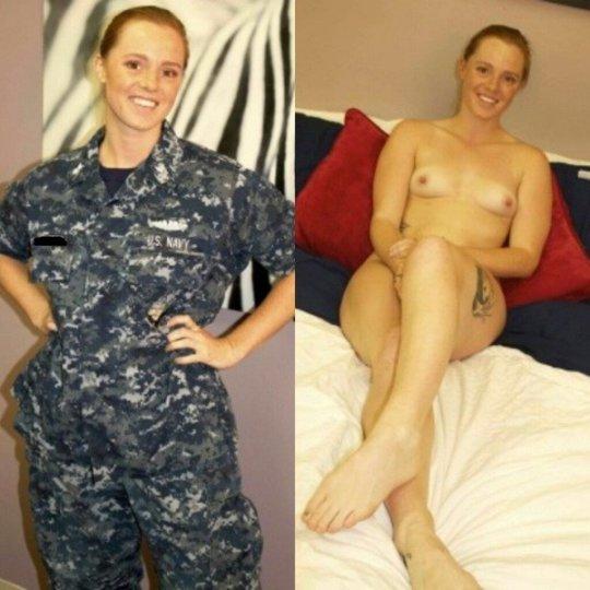 【兵士ヌード】ストレス溜まりまくる女性兵士の着衣ヌード比較画像、案外だらしない身体してて草wwwwwwwwww(画像30枚)・2枚目