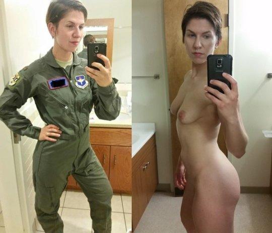 【兵士ヌード】ストレス溜まりまくる女性兵士の着衣ヌード比較画像、案外だらしない身体してて草wwwwwwwwww(画像30枚)・6枚目