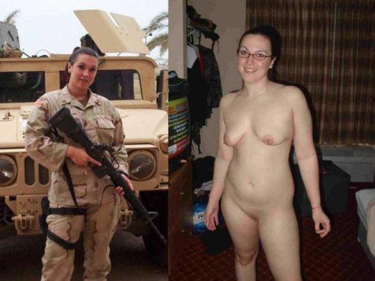 【兵士ヌード】ストレス溜まりまくる女性兵士の着衣ヌード比較画像、案外だらしない身体してて草wwwwwwwwww(画像30枚)・9枚目