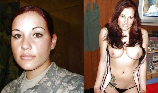 【兵士ヌード】ストレス溜まりまくる女性兵士の着衣ヌード比較画像、案外だらしない身体してて草wwwwwwwwww(画像30枚)・17枚目