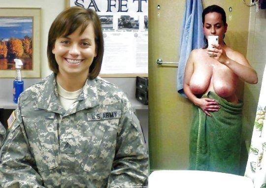 【兵士ヌード】ストレス溜まりまくる女性兵士の着衣ヌード比較画像、案外だらしない身体してて草wwwwwwwwww(画像30枚)・20枚目