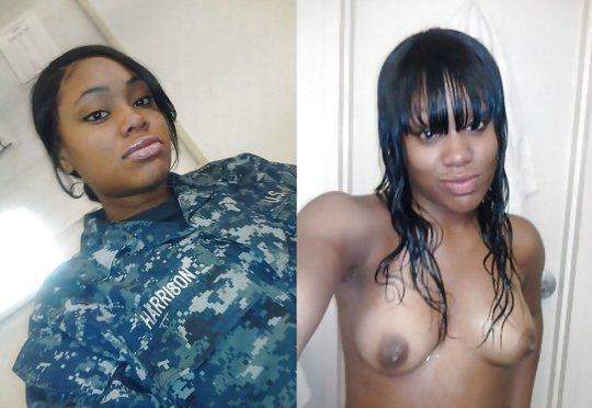 【兵士ヌード】ストレス溜まりまくる女性兵士の着衣ヌード比較画像、案外だらしない身体してて草wwwwwwwwww(画像30枚)・24枚目