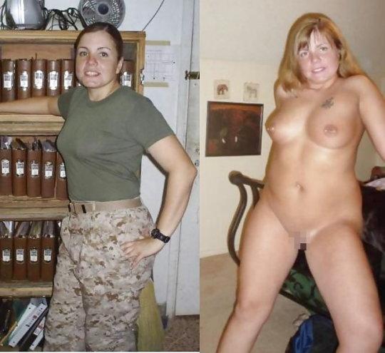 【兵士ヌード】ストレス溜まりまくる女性兵士の着衣ヌード比較画像、案外だらしない身体してて草wwwwwwwwww(画像30枚)・27枚目