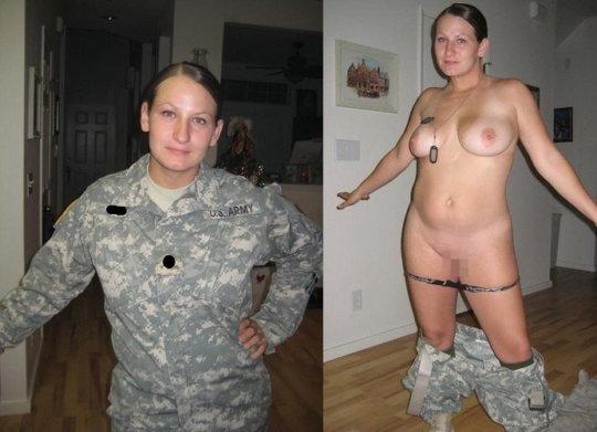 【兵士ヌード】ストレス溜まりまくる女性兵士の着衣ヌード比較画像、案外だらしない身体してて草wwwwwwwwww(画像30枚)・30枚目