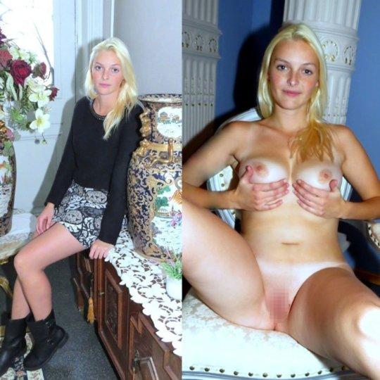 【着衣比較エロ】外人ネキの着衣ヌード比較画像、普通の全裸画像より百倍ヌケるwwwwwwww(画像30枚)・27枚目