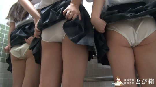 【※ヤバイ】多目的トイレに女子学生を3人連れ込んでヤッた奴の映像・・・・4枚目