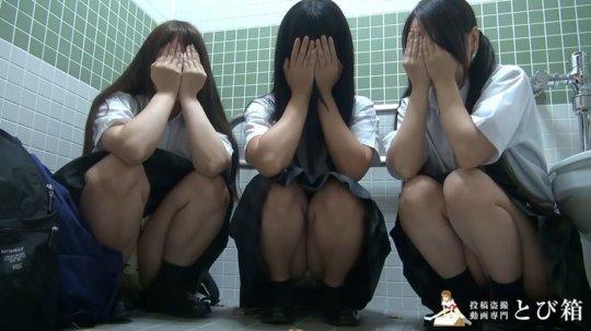 【※ヤバイ】多目的トイレに女子学生を3人連れ込んでヤッた奴の映像・・・・7枚目